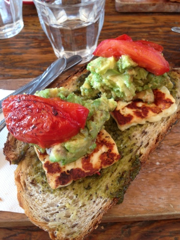 Crushed avocado with Haloumi - $14